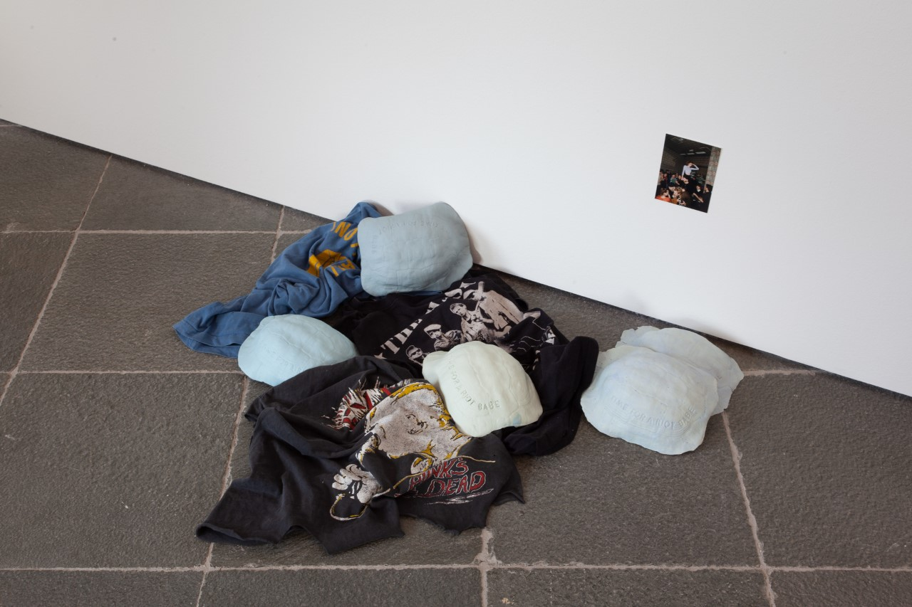 Exhibition: the boy tumbled off a chair, he did not hurt himself at Belvedere21, Vienna, 2019 with works by Nicoleta Auersperg,Gabriele Edlbauer,Maria Grün,Lore Heuermann,Laura Hinrichsmeyer,Nika Kupyrova,Mara Novak,Maša Stanić,Dorothea Trappel.